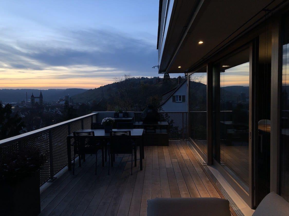 Perfekte Terrassenbeleuchtung