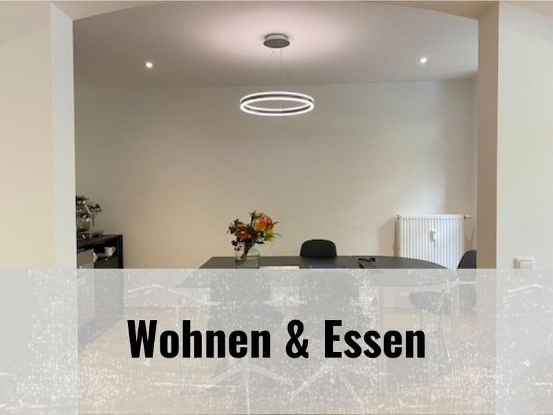 Lichtplanung Wohnzimmer Esszimemr